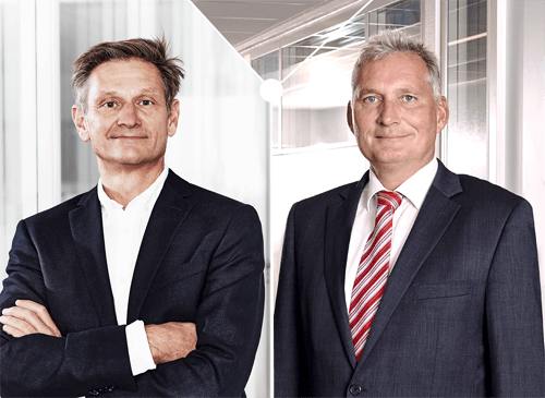 Dr. Franz Kirchmeier and Martin Hierholzer (Spokesman of Management Board​)